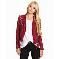 Jofama Kenza 9 Jacket (3 910 SEK) ❤ liked on Polyvore featuring outerwear, jackets, coats & jackets, zip front jacket, zip jacket, jofama, red jacket and zipper jacket
