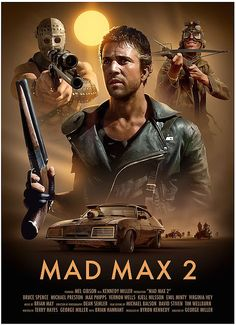 Mad Max 2 Poster by Brian Taylor Best Movie Posters, Cinema Posters, Movie Poster Art, Film Posters, Poster Poster, Art Posters, Poster Prints, Science Fiction, Mad Max Mel Gibson