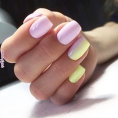 Spring nails, summer nails, creative nail designs, creative nails, nail a. Yellow Nails Design, Yellow Nail Art, Purple Nail Designs, Colorful Nail Designs, Stylish Nails, Trendy Nails, Cute Nails, My Nails, Nail Color Combos