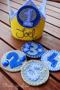 Filtrant... per Lídia: CORONA JOEL (I UNS ULLS QUE ENAMOREN) happy birthday crown kids