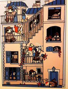 Au musée de la bande dessinée: Boerke dit Dickie en français de Pieter de Poortere*. Coup de coeur pour ce dessinateur et pour le cynisme qui se dégage de ses planches.