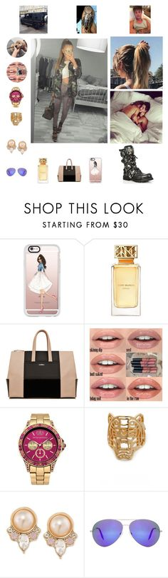 """Hey 10"" by nikoleta-nicky-malik ❤ liked on Polyvore featuring Yves Saint Laurent, Casetify, Tory Burch, Little Mistress, Kenzo, Carolee and Victoria Beckham"