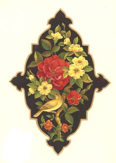 "Persian art ""Gol o Morgh"" iPhone wallpaper"