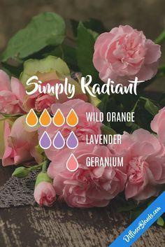 Simply radiant diffuser blend. Orange, lavender, geranium.