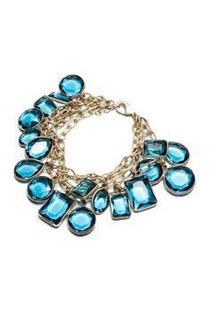 Glass Stone Drop Bracelet