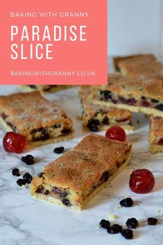 Paradise Slice - Baking with Granny Baking Recipes Uk, Tray Bake Recipes, Cookie Recipes, Dessert Recipes, Desserts, Baking Ideas, Scottish Recipes, British Biscuit Recipes, Cupcakes