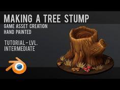 Tree Stump | Hand Painted | Tutorial | Game Asset | Blender - YouTube