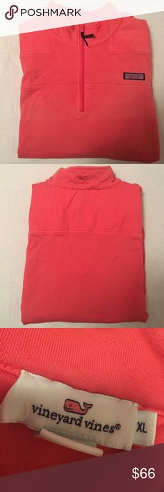 Vineyard Vines Shep Shirt pink Vineyard Vines quarter zip shep shirt in great condition!! light weight, perfect for summer nights. runs small Vineyard Vines Other