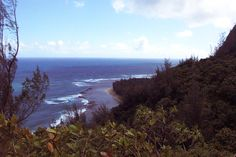The Kalalau Trail on Kauai's North Side looking toward Tunnels Beach. Photo Finish - Hawaii, mystery, and trouble in paradise that never looked so good - http://terryambrose.com/photo-finish/