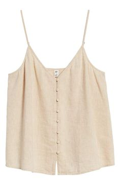 BP button-front camisole
