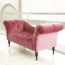 """Rose """"Pandora"""" settee by Horchow"""