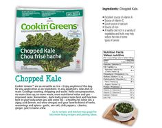 Chopped Kale Sources Of Vitamin A, Valeur Nutritive, Vitamin C, Grocery Store, Kale, Packaging, Herbs, Nutrition, Diet