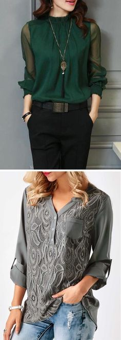work tops, work blouses for women, casual work blouses, casual tops, causal tops for women womens fashion 2017 trends Fashion Mode, Work Fashion, Fashion Outfits, Womens Fashion, Fashion Ideas, Cool Outfits, Casual Outfits, Dress Casual, Work Tops
