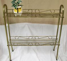 Your place to buy and sell all things handmade Garden Rack, Metal Plant Stand, Ceramic Animals, Old Bottles, Retro Home Decor, Shabby Chic, Mid Century, Brass, Shelves