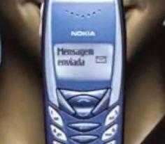 Propaganda dos celulares da Nokia em 2003, com vários modelos de aparelho de sucesso daquela época.