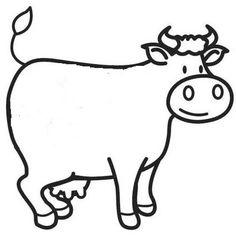 Afbeeldingsresultaat voor koe kleurprent