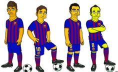 Messi, Neymar, Xavi e Iniesta se convierten en 'Simpsons' El Barça firma con la Fox un acuerdo de colaboración para celebrar los 25 años de la serie La versión animada de los jugadores será parte de una amplia gama de 'merchandising'