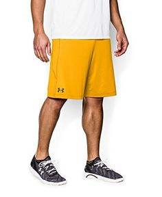 Under Armour Men's Raid Shorts, Medium, Steeltown Gold/Black - http://www.exercisejoy.com/under-armour-mens-raid-shorts-medium-steeltown-goldblack/athletic-clothing/