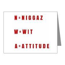 N.W.A NIGGAZ WIT ATTITUDE Note Cards