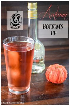 Autumn Bottom's Up Cocktail Recipe.  #halloween #cocktail #recipe #afterfive #amaretto #fall #autumn #yum