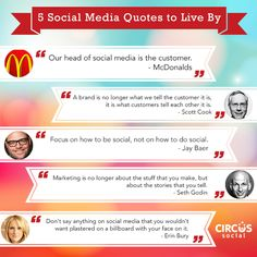 5 social media quotes to live by http://www.buyrealmarketing.com/ #quotes #socialmedia #marketing