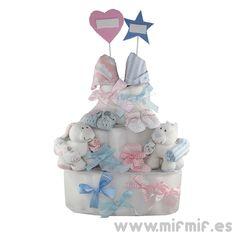 "Tarta de Pañales ""MifMif Cake"" disponible en http://www.mifmif.es"
