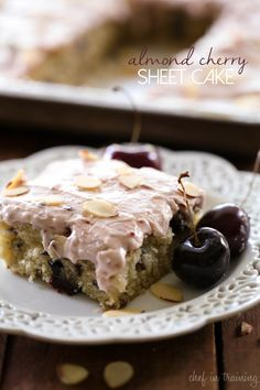 Almond Cherry Sheet Cake… the almond-cherry flavor is AMAZING! The cake is perfection!