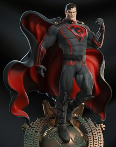 #DCComics #Superman #Elseworlds #Dieselpunk #Sovietpunk Superman Red Son, Superman Art, Superman Man Of Steel, Arte Dc Comics, Comic Books Art, Comic Art, Steel Dc Comics, Univers Dc, Superhero Characters