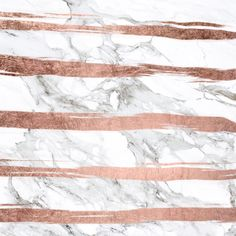 Modern chic faux rose gold brush stripes white marble Art Print by Girly Trend | Society6