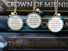 Throne of Glass by Sarah Maas Book Quote Pendant Necklace by CreationsBySarabii on Etsy https://www.etsy.com/listing/195233400/throne-of-glass-by-sarah-maas-book-quote