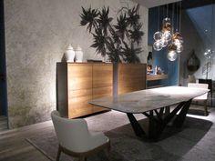 Comedor, mesa de mármol, aparador madera, salone di mobile milano 2016, Milán, living room, salón
