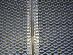 Expanded metal, door hinge