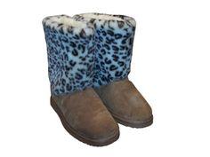 fd104054b3b Snooki Signature Leopard Sheepskin Boots   Snooki   Happy Feet Slippers    BuyHappyFeet.com