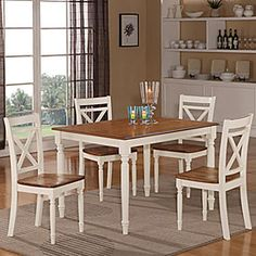 Farmhouse 5 Piece Two Tone Dining Set | Big Lots $299 Part 51