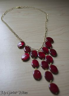 DIY Red Statement Necklace