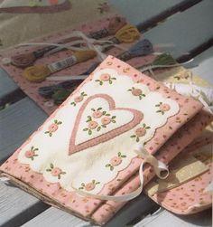 PDF patrón de flor Vintage costurero caso bolsa porta algodón coser fieltro edredón apliques patchwork regalo del arte