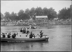Regatta on the Waikato River at Ngaruawahia, circa The Ngaruawahia Rowing Club building is across the river, centre right, with steamboats la. Rowing Club, Historical Photos, New Zealand, Boat, River, Image, Google Search, Historical Pictures, Dinghy