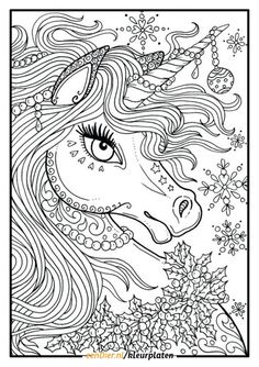 Unicorn Coloring Books for Adults Unicorn Christmas Coloring Page Adult Color Book Art Fantasy Birthday Coloring Pages, Valentines Day Coloring Page, Fairy Coloring Pages, Unicorn Coloring Pages, Pokemon Coloring Pages, Coloring Book Art, Animal Coloring Pages, Coloring Pages For Kids, Colouring