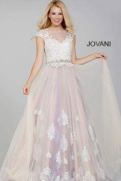 White Tulle Ballgown Prom Dress 31122