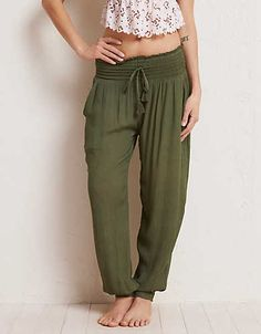 Aerie Harem Pant , Rugged Green | Aerie for American Eagle