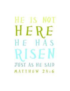 He Is Risen ~ Easter Printable