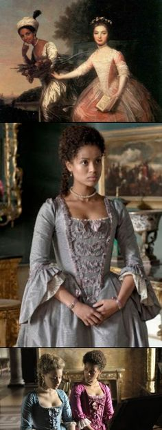 There is a new film coming soon (Belle) inspired by the life of Dido Elizabeth Belle, the first black woman to be introduced to high society in Georgian times.  Dido Elizabeth Belle (1761-1804) was an illegitimate daughter of Admiral Sir John Lindsay and an African woman known as Belle.