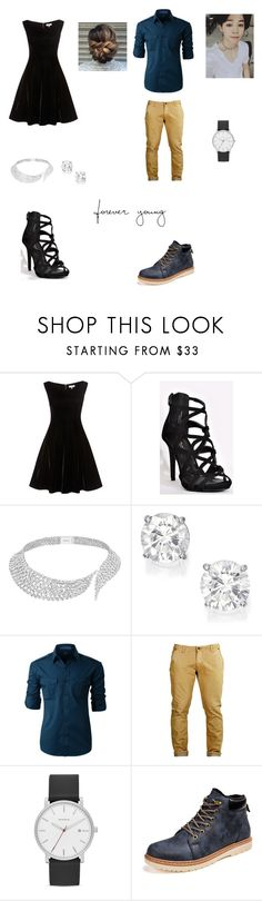 """""""Namoradinhos"""" by ciana-si on Polyvore featuring Messika, LE3NO e Skagen"""