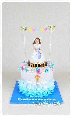 First communion- erste Kommunion Cake (from fb: Hannover ChipChap Cake) Birthday Cake, Facebook, Mini, Desserts, Food, Communion, Tailgate Desserts, Birthday Cakes, Dessert