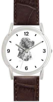 IRISH SETTER DOG (MS) - WATCHBUDDY® DELUXE SILVER TONE WATCH - Brown Strap - Small Size (Children's: Boy's & Girl's Size) WatchBuddy. $49.95