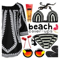 """""""Beach coverups"""" by koogallove ❤ liked on Polyvore featuring Havaianas, Kate Spade and Vans"""