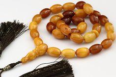 Antique Style Butterscotch Islamic 33 Prayer Beads Baltic Amber 40 2G I151112 14 | eBay