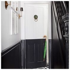Ban your boring hallways! Our #weekenddecorator @mepflug is showing us 3 simple projects to totally transform your entryway - like this awesome two-tone door!See the rest by tapping the link in our profile.