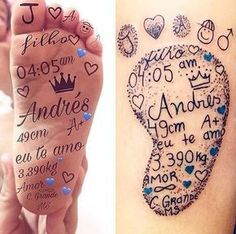 40 creative little tattoos ideas for mothers with kids - - 40 creative little . - 40 creative little tattoos ideas for mothers with children – – 40 creative little tattoos i - Tattoos For Baby Boy, Baby Feet Tattoos, Baby Name Tattoos, Mommy Tattoos, Mom Baby Tattoo, Tattoos For Kids, Family Tattoos, Little Tattoos, Small Tattoos