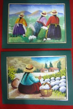 walter anicama zamora - Buscar con Google Peruvian Art, Peruvian Women, Mexican Paintings, Mexico Art, Southwest Art, Indigenous Art, Gustav Klimt, Artist Painting, Art Pictures